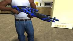 Blue Lines Combat Shotgun for GTA San Andreas