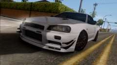 Nissan Skyline GT-R34 for GTA San Andreas