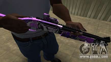 Purple World Shotgun for GTA San Andreas