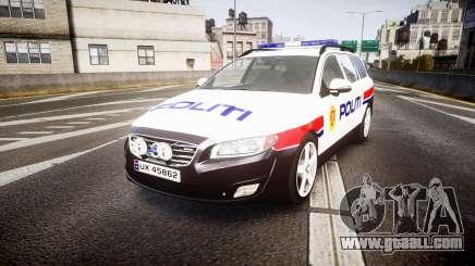 Volvo V70 2014 Norwegian Police [ELS] for GTA 4
