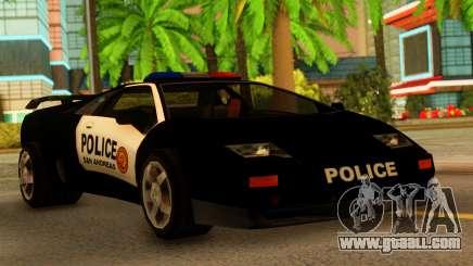 Lamborghini Diablo Police SA Style for GTA San Andreas