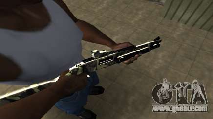 Camo Shotgun for GTA San Andreas