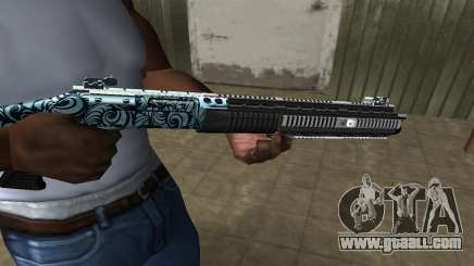 Blue Snow Shotgun for GTA San Andreas