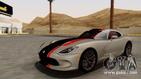 Dodge Viper SRT GTS 2013 HQLM (HQ PJ) for GTA San Andreas upper view