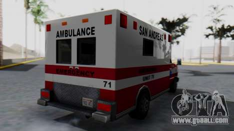 Ambulance with Lightbars for GTA San Andreas left view