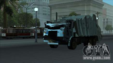 TDK Volvo Xpeditor Garbage Crash Version for GTA San Andreas inner view