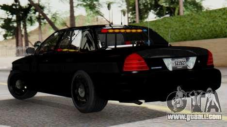 FBI Rancher 2013 for GTA San Andreas left view