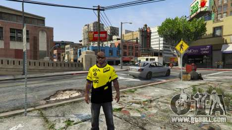 T-shirt for Natus Vincere Franklin for GTA 5
