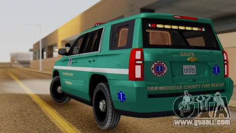SACFR 2015 Tahoe v1 for GTA San Andreas left view