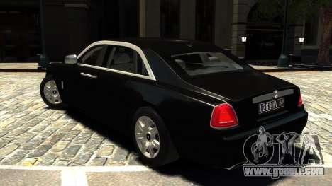 Rolls-Royce Ghost 2013 v1.0 for GTA 4 back left view