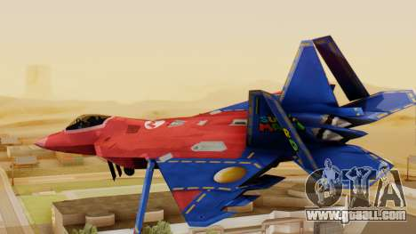 F-22 Raptor MARIO for GTA San Andreas left view