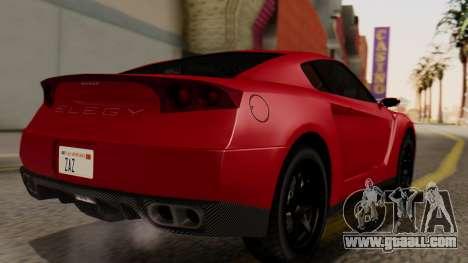 GTA 5 Annis Elegy RH8 IVF for GTA San Andreas left view
