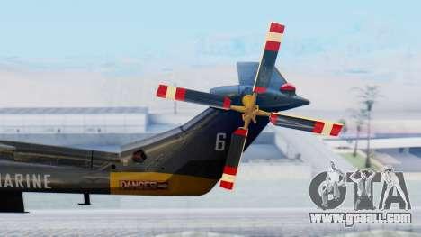 Westland SH-14D Lynx for GTA San Andreas back left view