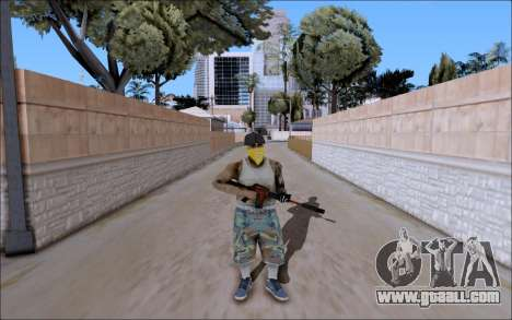 M4A1 Crimzone for GTA San Andreas second screenshot
