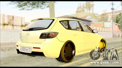 Mazdaspeed 3 Daglow v2 for GTA San Andreas back left view