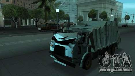 TDK Volvo Xpeditor Garbage Crash Version for GTA San Andreas bottom view