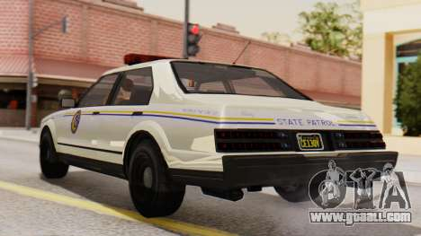 GTA 5 Albany Esperanto Police Roadcruiser IVF for GTA San Andreas left view