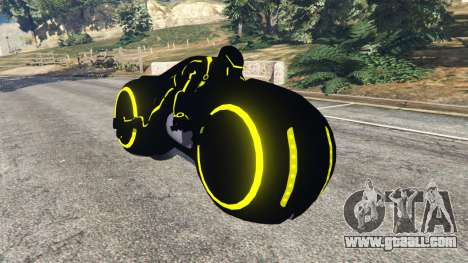 Tron Bike yellow for GTA 5