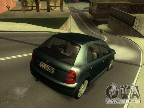 Skoda Fabia 2001 for GTA San Andreas back left view