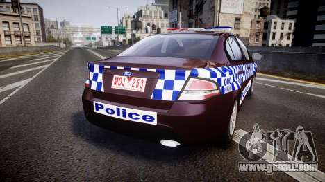 Ford Falcon FG XR6 Turbo NSW Police [ELS] v3.0 for GTA 4 back left view