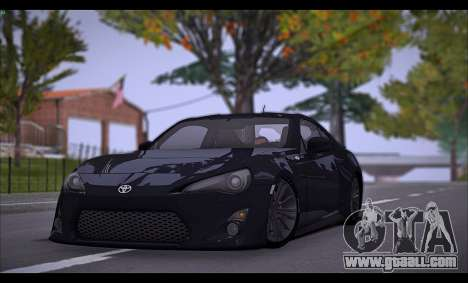 Toyota GT86 2012 BUFG Edition for GTA San Andreas back left view