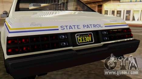 GTA 5 Albany Esperanto Police Roadcruiser for GTA San Andreas inner view