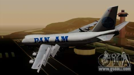 Boeing 747 PanAm for GTA San Andreas left view
