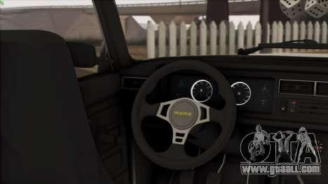 VAZ 2107 Avtosh Style for GTA San Andreas inner view