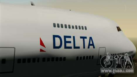 Boeing 747 Delta for GTA San Andreas right view