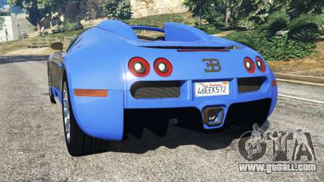 GTA 5 Bugatti Veyron Grand Sport rear left side view