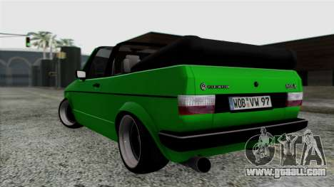Volkswagen Golf Cabrio VR6 for GTA San Andreas left view