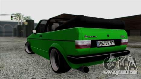 Volkswagen Golf Cabrio VR6 for GTA San Andreas left view