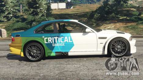 GTA 5 BMW M3 GTR E46 PJ1 left side view