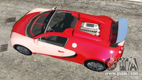 GTA 5 Bugatti Veyron Grand Sport back view