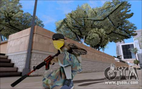 M4A1 Crimzone for GTA San Andreas third screenshot