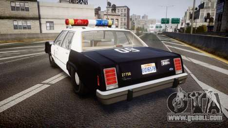 Ford LTD Crown Victoria 1987 LAPD [ELS] for GTA 4 back left view