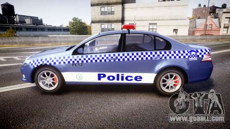 Ford Falcon FG XR6 Turbo NSW Police [ELS] for GTA 4 left view