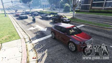 Realistic filling the streets and roads 4GBRAM for GTA 5