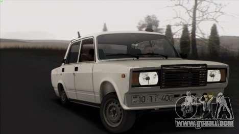 VAZ 2107 Avtosh Style for GTA San Andreas