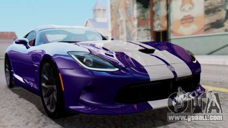 Dodge Viper SRT GTS 2013 HQLM (HQ PJ) for GTA San Andreas