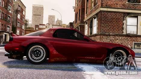 Mazda RX-7 RocketBunny EPM for GTA 4 upper view