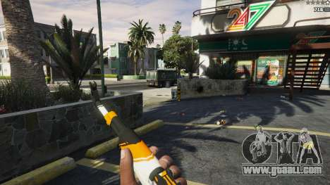 GTA 5 AK47 - Asiimov Edition fifth screenshot