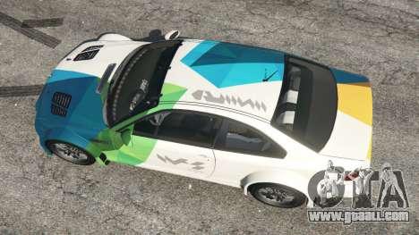 GTA 5 BMW M3 GTR E46 PJ1 back view