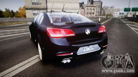 Holden VF Commodore SS Unmarked Police [ELS] for GTA 4 back left view