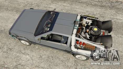 GTA 5 DeLorean DMC-12 Back To The Future v0.1 back view