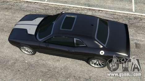 GTA 5 Dodge Challenger SRT8 2009 v0.2 [Beta] back view