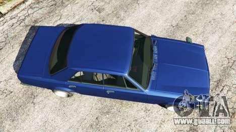GTA 5 Nissan Skyline 2000 GT-R 1970 v0.2 [Beta] back view