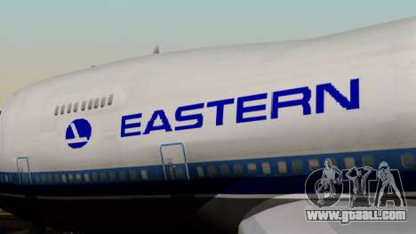 Boeing 747 Eastern for GTA San Andreas back view
