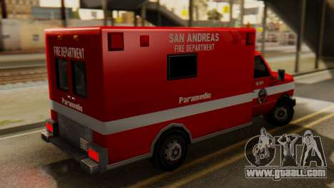 SAFD Ambulance for GTA San Andreas left view