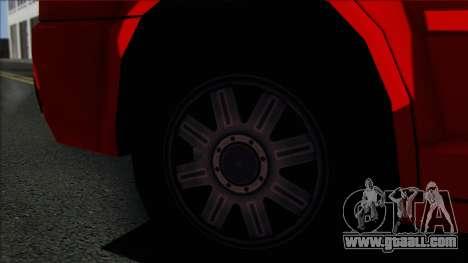 Chrysler 300C SA Style for GTA San Andreas back left view